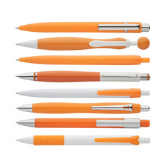 orange pens collection, with PS path