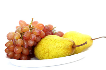 Grapes and pears.