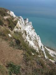 chalk cliff at Beachy Head Eastbourne England