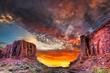 Leinwandbild Motiv Sunset in the Utah Desert