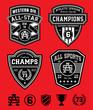 Athletic patch emblem set - 69842522