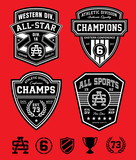 Athletic patch emblem set