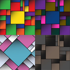 set Colorful Square blank batskground with place for your text.
