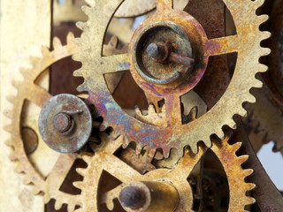 old clock mechanism with gears