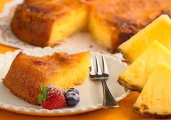 piece of pineapple cake