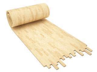 Yellow wooden floor, concept of rool parquet