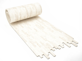 White wooden floor, concept of rool parquet