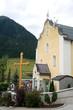canvas print picture - Pfarrkirche zum Hl. St. Nikolaus - Ischgl - Alpen