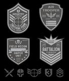 Special forces emblem patch set