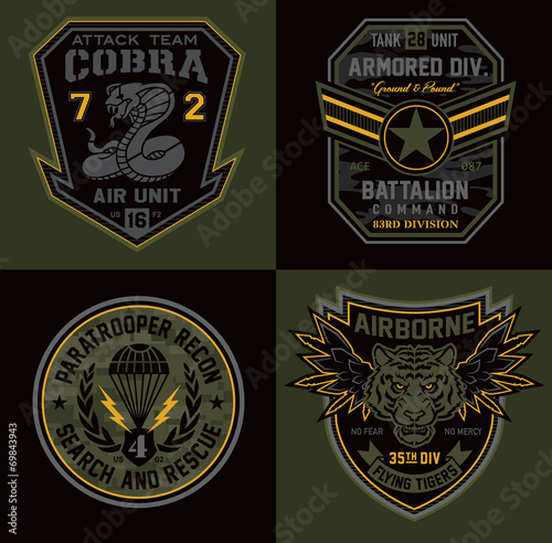 Special unit military patch emblems - 69843943