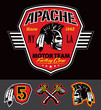 Apache skull motor team graphic set - 69844107