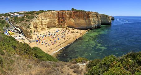 Praia de Benagil beach on atlantic coast, Algarve, Portugal.
