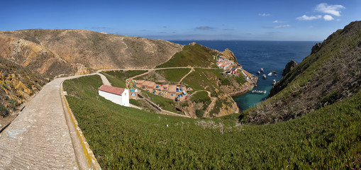 Panoramic view of the main island of berlengas, Portugal