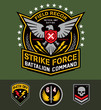 Military eagle graphic set - 69844325