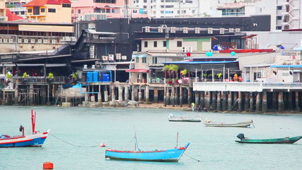 boats in bay of Pattaya, Thailand