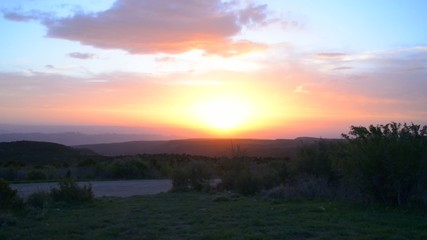 Beautiful sunset view of Spanish Valley near Moab Utah