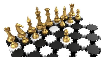 Chess Board Gears