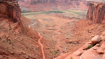 Mineral Bottom Road Switchbacks Utah