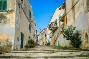 Island of Elba, alley in Sant'Ilario