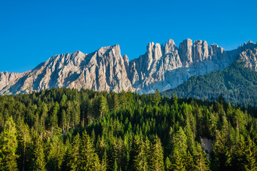 Peak of latemar in South Tyrol,Dolomite, Italy