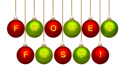 Weihnachtskugeln Frohes Fest