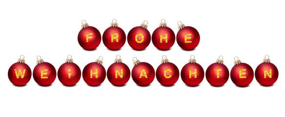 Weihnachtskugeln Frohe Weihnachten