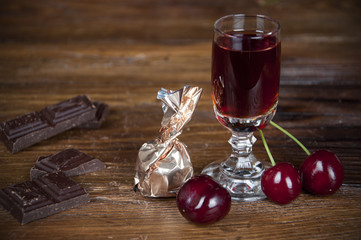 Chocolate and cherry liqueur