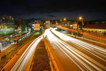 Athenian night traffic.