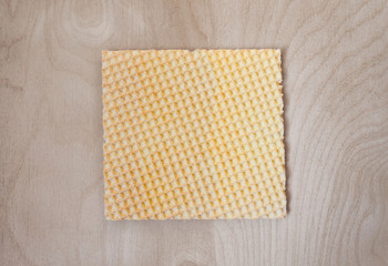square waffle on a wooden structure