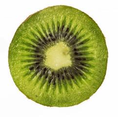 fresh Kiwi fruit sliced isolated on white background