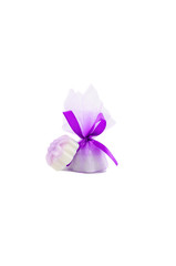 beautiful purple lavender soap in gift box with ribbon