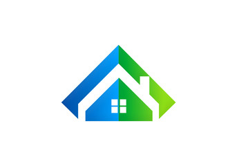 home realty abstract vector logo