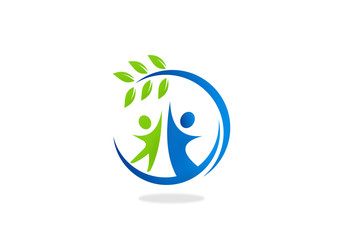 nature ecology people friendly vector logo