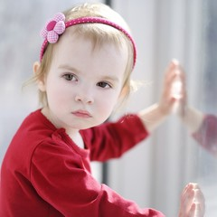 Portrait of cute toddler girl