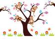 małpki na drzewie