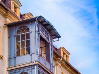 alter antiker jugendstil balkon