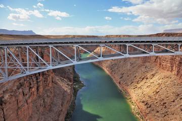 The easy metal bridge through the river Colorado