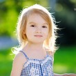 canvas print picture - Adorable little girl outdoors