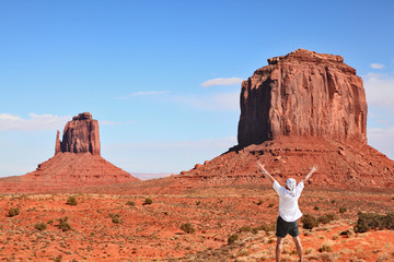 The tourist in Monument Valley