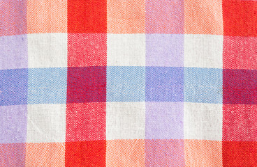 checked fabric tablecloth