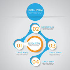 Abstract vector circle infographic