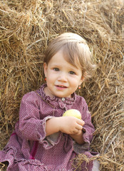 Baby girl in the haystack
