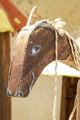 medieval wood horse, handmade toy