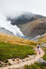 大雪山旭岳姿見の池散策道を行く
