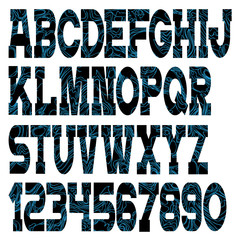 Vector font with abstract pattern