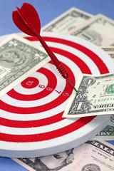 Idea of making profit - dart hit at dollar