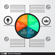 Modern business Infographics circle for business