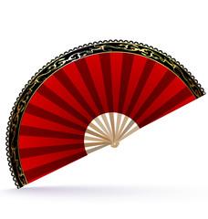 red-golden fan