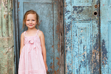 Little girl portrait outdoors