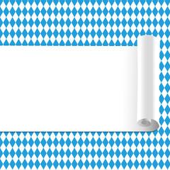 Oktoberfest Hintergrund Muster Zettel gerollt Textfreiraum mitte